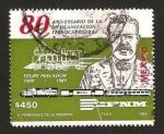 Sellos de America - México -  80 anivº de la mexicanizacion ferrocarrilera