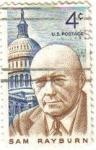 Sellos de America - Estados Unidos -  USA 1962 Scott 1202 Sello Personajes Sam Rayburn y Capitolio usado