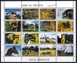 Stamps Asia - United Arab Emirates -  UMM AL QIWAIN. Animales Salvajes.