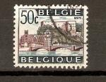Sellos de Europa - Bélgica -  PUENTE  Y  CASTILLO