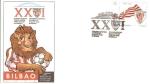 Stamps : Europe : Spain :  Sobre - Congreso Nacional de Peñas del Athetic Club de Bilbao