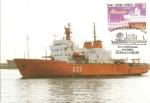 Stamps : Europe : Spain :  Tarjeta Postal - Exposición Polar Filacentro 91, buque Hesperides