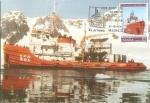 Stamps : Europe : Spain :  Tarjeta Postal - XXX anivº del Tratado Antártico