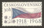 Stamps of the world : Czechoslovakia :  Bandera