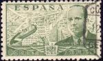 Stamps Spain -  ESPAÑA 1941 945 Sello º Juan de la Cierva y Autogiro 2p