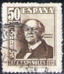 Sellos del Mundo : Europa : España : ESPAÑA 1948 1037 Sello Cent. Ferrocarril Marques de Salamanca 50c Usado