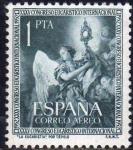 Sellos de Europa - España -  ESPAÑA 1952 1117 Sello Nuevo XXXV Congreso Eucarístico Internacional Barcelona La Eucaristía Tiepolo