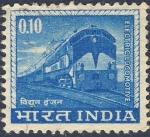 Sellos de Asia - India -  locomotora electrica
