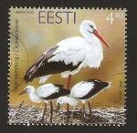 Sellos del Mundo : Europa : Estonia : fauna, valge toonekug