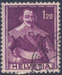 Stamps Switzerland -  Jurg Jenatsch  1596-1639