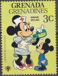 Stamps America - Grenada -  GRENADA GRENADINES 1979 Scott 353 Sello Nuevos Disney Año del Niño Minnie Mouse Enfermera 3c