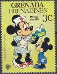 Sellos del Mundo : America : Granada : GRENADA GRENADINES 1979 Scott 353 Sello Nuevos Disney Año del Niño Minnie Mouse Enfermera 3c