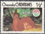 Sellos de America - Granada -  GRENADA GRENADINES 1980 Scott 411 Sello Nuevo Disney Escenas de Bambi 1/2c
