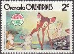 Sellos de America - Granada -  GRENADA GRENADINES 1980 Scott 413 Sello Nuevo Disney Escenas de Bambi 2c