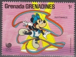 Sellos del Mundo : America : Granada : Grenada Grenadines 1988 Scott 939 Sello ** Walt Disney Juegos Olimpicos de Corea Seul Minnie Gimnasi