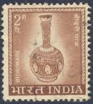 Sellos de Asia - India -  jarron