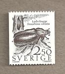 Stamps Sweden -  Escarabajo Osmoderma eremita