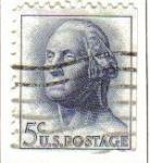 Sellos de America - Estados Unidos -  USA 1963 Scott 1213 Sello Presidente 1º George Washington (22/1/1732-14/12/1799) usado