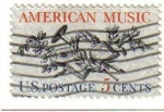 Sellos de America - Estados Unidos -  USA 1964 Scott 1252 Sello Musica Americana Laud, Cuerno, Laurel, UTE, HORN, LAUREL, Roble y Music Sc