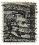 Sellos de America - Estados Unidos -  USA 1965 Scott 1282 Sello Presidente 16º Abraham Lincoln (12/02/1809-15/04/1865) usado