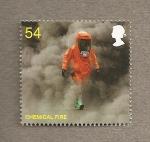 Stamps United Kingdom -  Bomberos y rescate