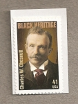 Stamps United States -  charles W. Chessnutt