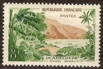 Sellos del Mundo : America : Guadeloupe : FRANCIA 1957 Scott 851 Sello Nuevo Riviere Sens Guadeloupe Paisaje