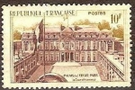Sellos del Mundo : Europa : Francia : FRANCIA 1957 Scott 850 Sello Nuevo Palacio del Elyseo Paris La Cour D'Honneur