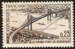 Sellos del Mundo : Europa : Francia : FRANCIA 1967 Scott 1180 Sello Nuevo Gran Puente de Bordeaux