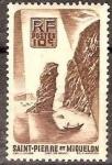 Stamps America - San Pierre & Miquelon -  Francia San Pedro y Miquelon Sello Nuevo Paisaje Marino
