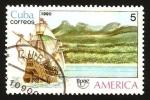 Stamps Cuba -  barco y paisaje