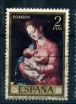 Sellos de Europa - España -  la virgen y el niño-l. de morales