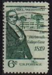 Sellos de America - Estados Unidos -  USA 1969 Scott 1380 Sello Personajes Daniel Webster usado