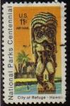 Sellos de America - Estados Unidos -  USA 1972 Scott C80 Sello Centenario Parques nacionales Hawai usado