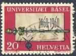 Stamps Switzerland -  Universitaet Basel 1460-1960