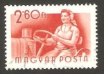 Stamps Hungary -  conductora de tractor