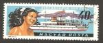 Sellos de Europa - Hungría -  Centº de las instalaciones náuticas en lago Balaton, barco de recreo