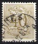Stamps Belgium -  León rampante y cifra.