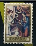 Stamps Spain -  la anunciación-l. morales