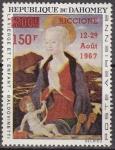 Sellos de Africa - Benin -  DAHOMEY 1967 Scott C60 Sello Nuevo Sobreimpreso Riccione Italia La Virgen y el Niño Baldovinetti