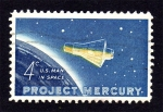 Stamps : America : United_States :  Project Mercury - U.S. man in space