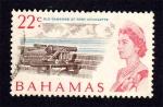 Sellos del Mundo : America : Bahamas : Cañones en el Fuerte Charlotte