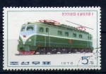 Stamps Asia - North Korea -  locomotora electrica