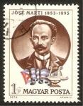 Stamps : Europe : Hungary :  jose marti, poeta cubano