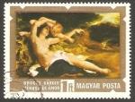 Stamps : Europe : Hungary :  2383 - Pintura de Karoly Brocky, Venus y Cupido