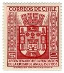 Stamps : America : Chile :  Fundación de Angol