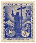 Stamps : America : Chile :  Encuentro Chileno Argentino en 1953