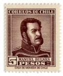 Sellos de America - Chile -  Presidente Manuel Bulnes