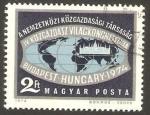 Sellos de Europa - Hungría -  Congreso mundial de economia en Budapest