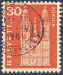 Stamps Switzerland -  Iglesias - Zurich